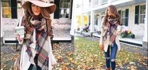Kışın Modası Örgü Şal Modelleri