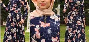 Çiçek desenli elbise modelleri tasarımları
